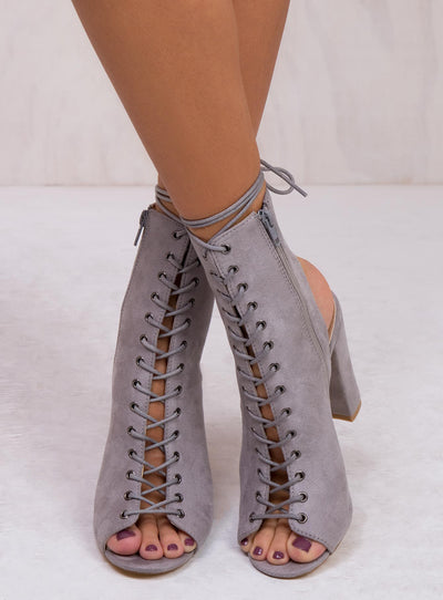 Billini Light Grey Suede Bambi Boots