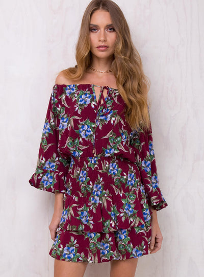 To The River Off The Shoulder Dress