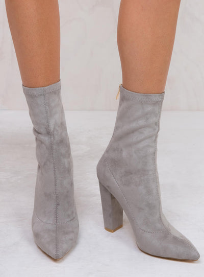 Billini Light Grey Suede Octavia Boots