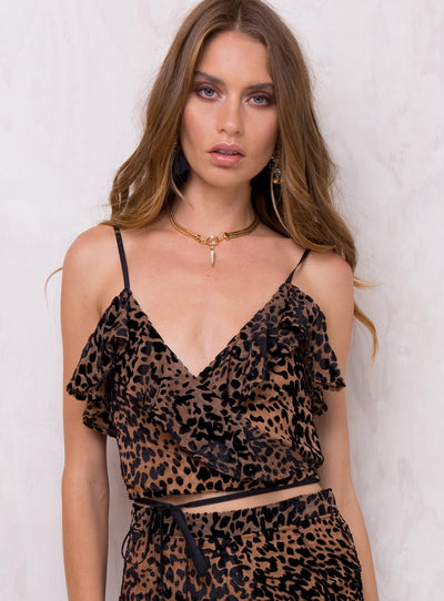 Full Of Fire Wrap Crop Top