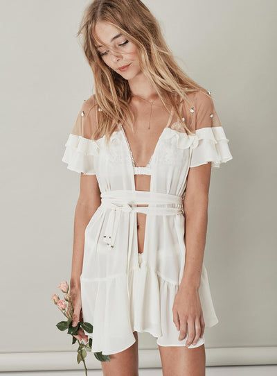 For Love & Lemons Little Rosette Robe