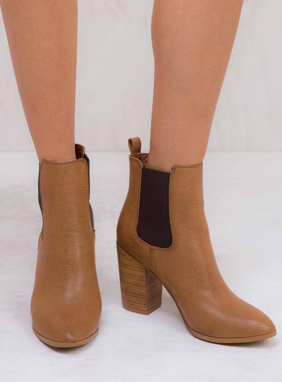 Billini Dark Tan Tumble Jaida Boots