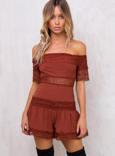 Shallow Water Off The Shoulder Romper