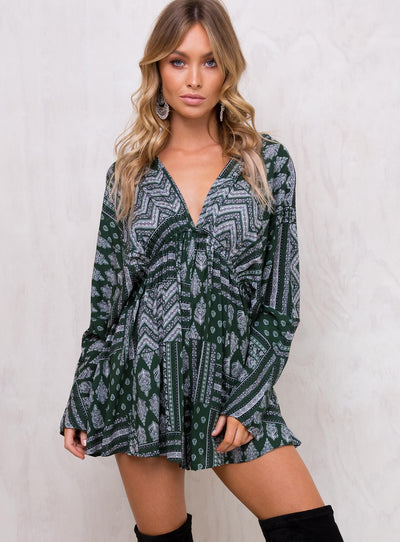 Ivory Forest Playsuit