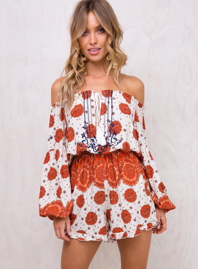 Distant Sky Off The Shoulder Playsuit