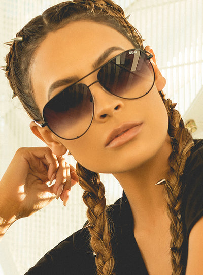 Quay X Desi Black Fade High Key Sunglasses