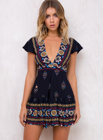 Sangria Mini Wrap Dress