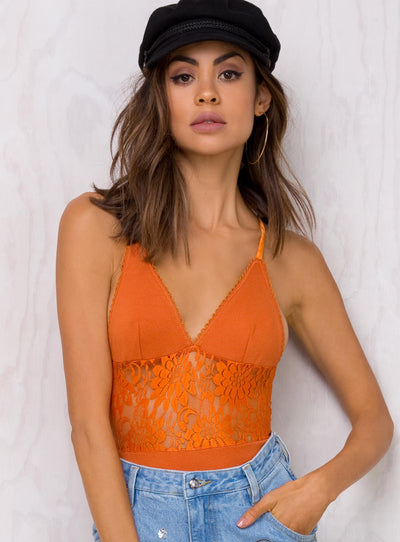 Minkpink Antique Peach Double Take Bodysuit