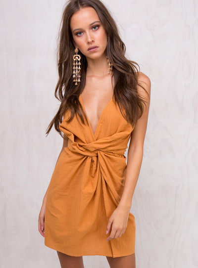 Wilted Lily Cotton Mini Dress