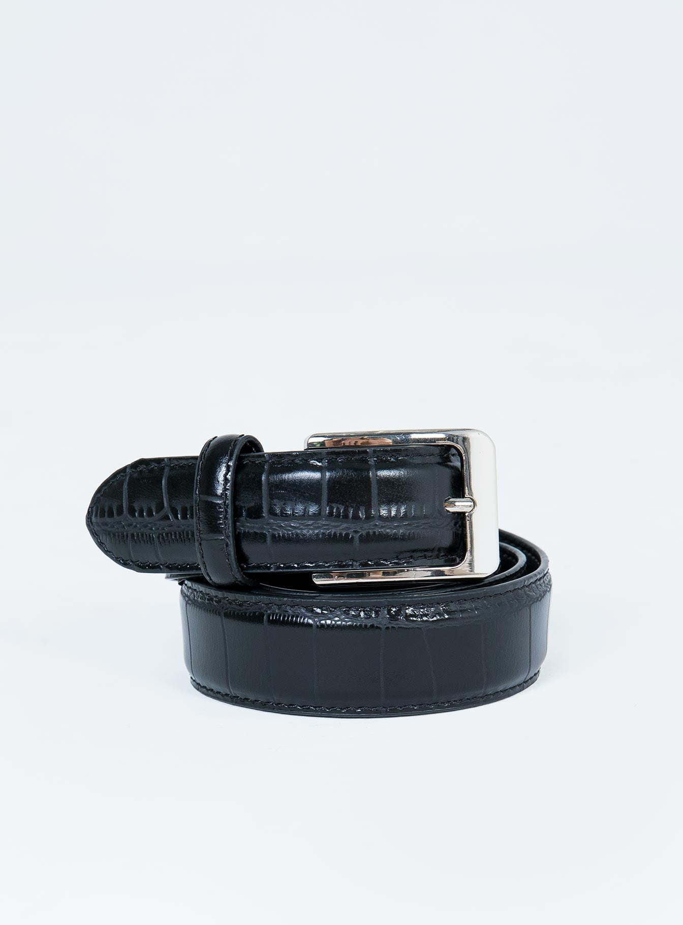 Nakedvice The Mia Belt Black Croc