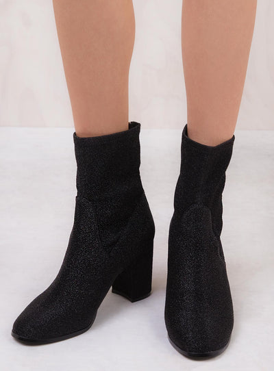 Therapy Black Hoxton Sparkle Boots