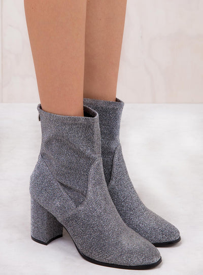 Therapy Silver Hoxton Sparkle Boots