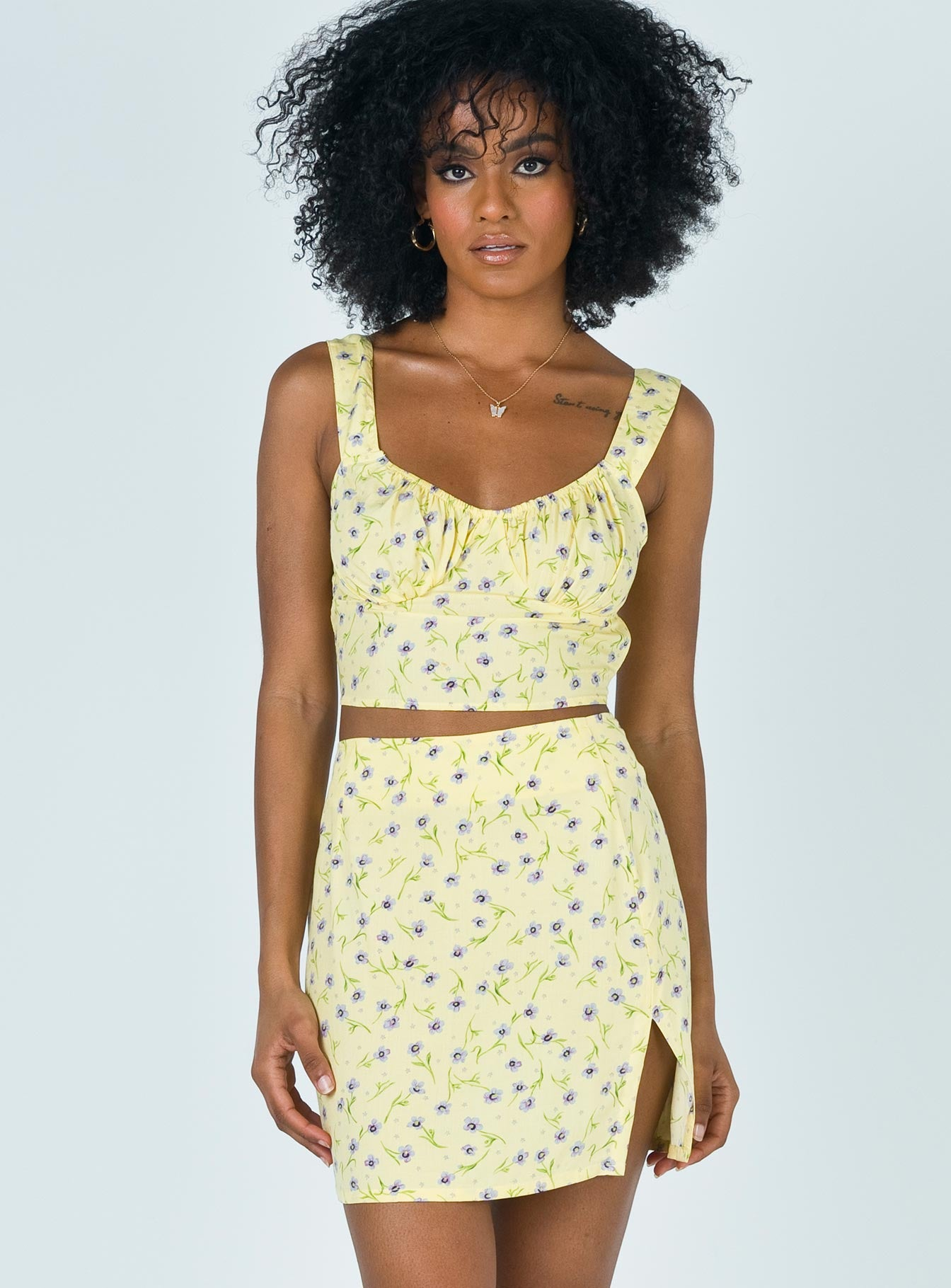 Motel Sheny Skirt Wild Flower Lemon Drop