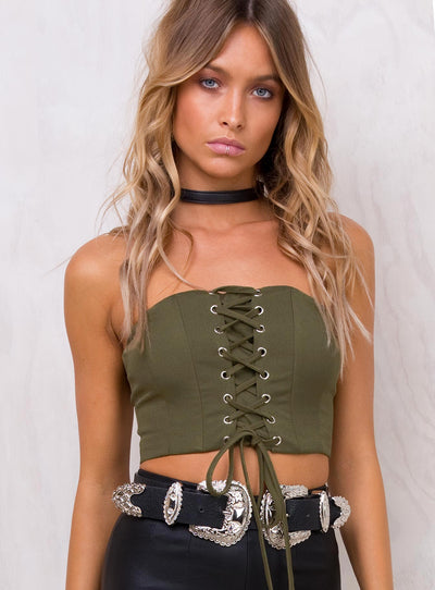 Jenner Strapless Crop Top