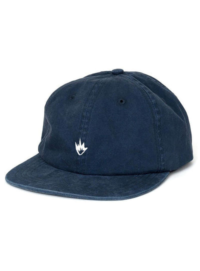 Afends Navy Flame Soft Brim 6 Panel Cap