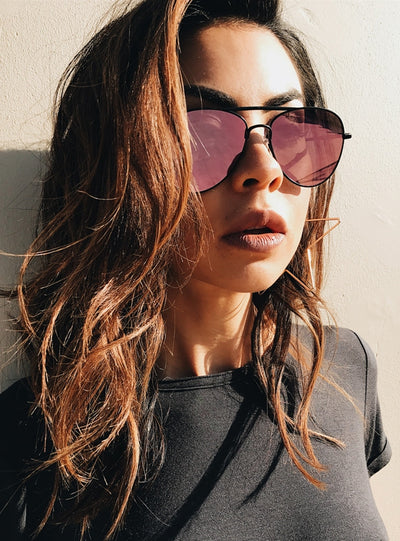 Minkpink Hot Tropic Sunglasses Black/Rose