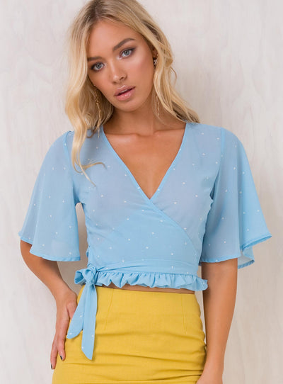 Lola Crop Wrap Blouse