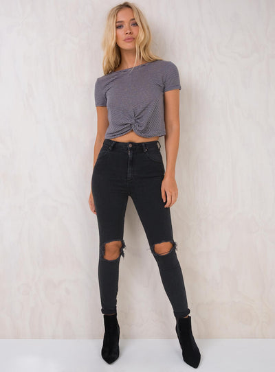 Wrangler Hi Pins Cropped Jeans