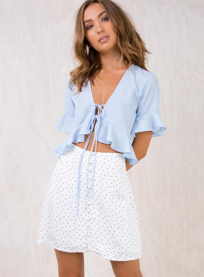 Minkpink Collide Button Front Mini Skirt