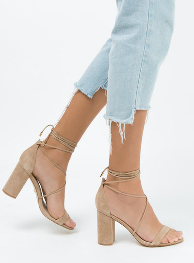 Windsor Smith Idina Heels Nougat Suede