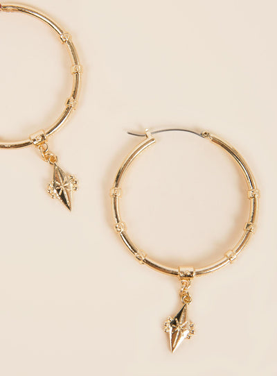 Minc Collections Gold Daydreamer Hoops