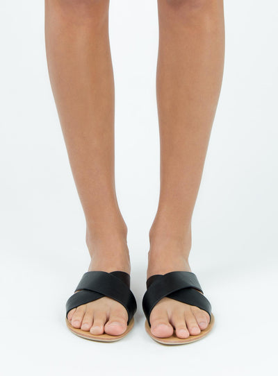 Billini Black Pebble Majorca Slides