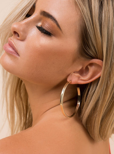 Gold Elena Open Hoops