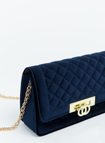 Evening Velour Bag Navy