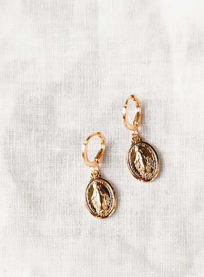 Mary Coin Earrings
