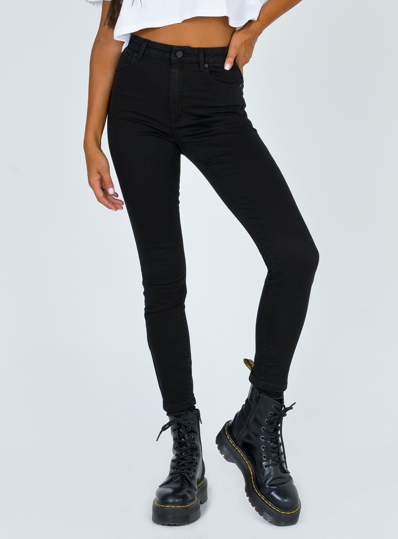Abrand Black Magic High Skinny Ankle Basher Jeans