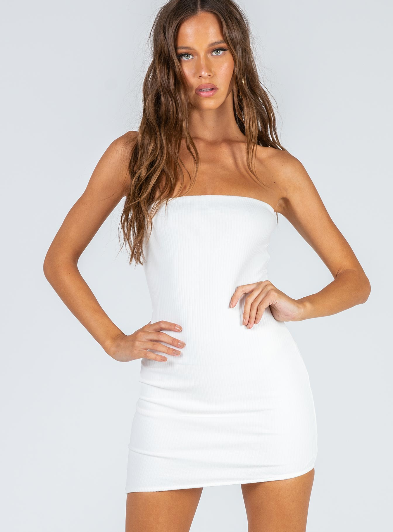 Loki Mini Dress White