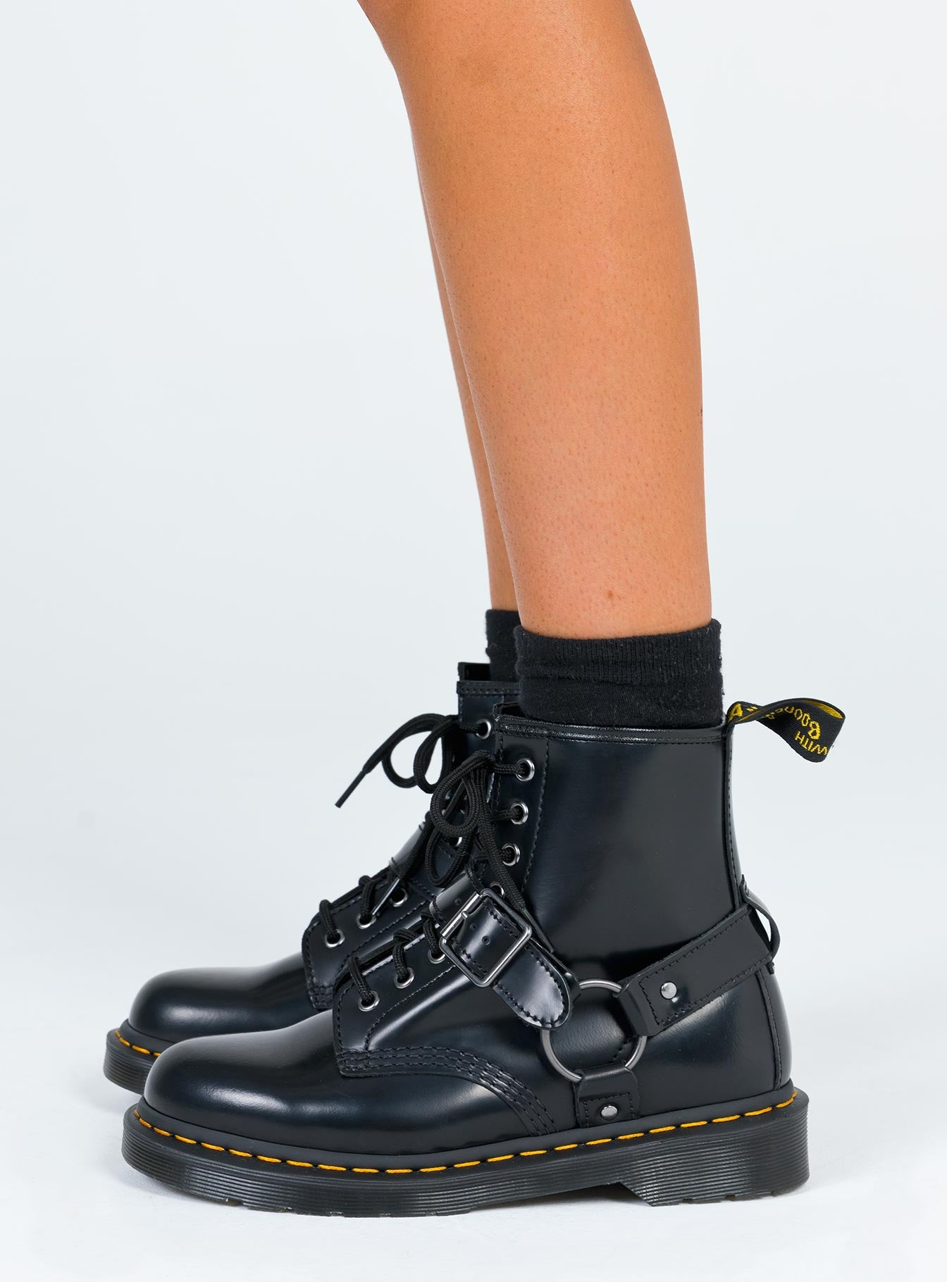 Dr. Martens 1460 Harness 8 Eye Boot Black – Princess Polly AUS