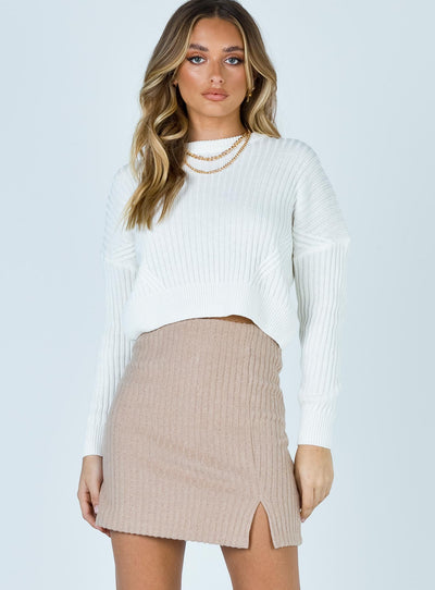 Nial Mini Skirt Beige