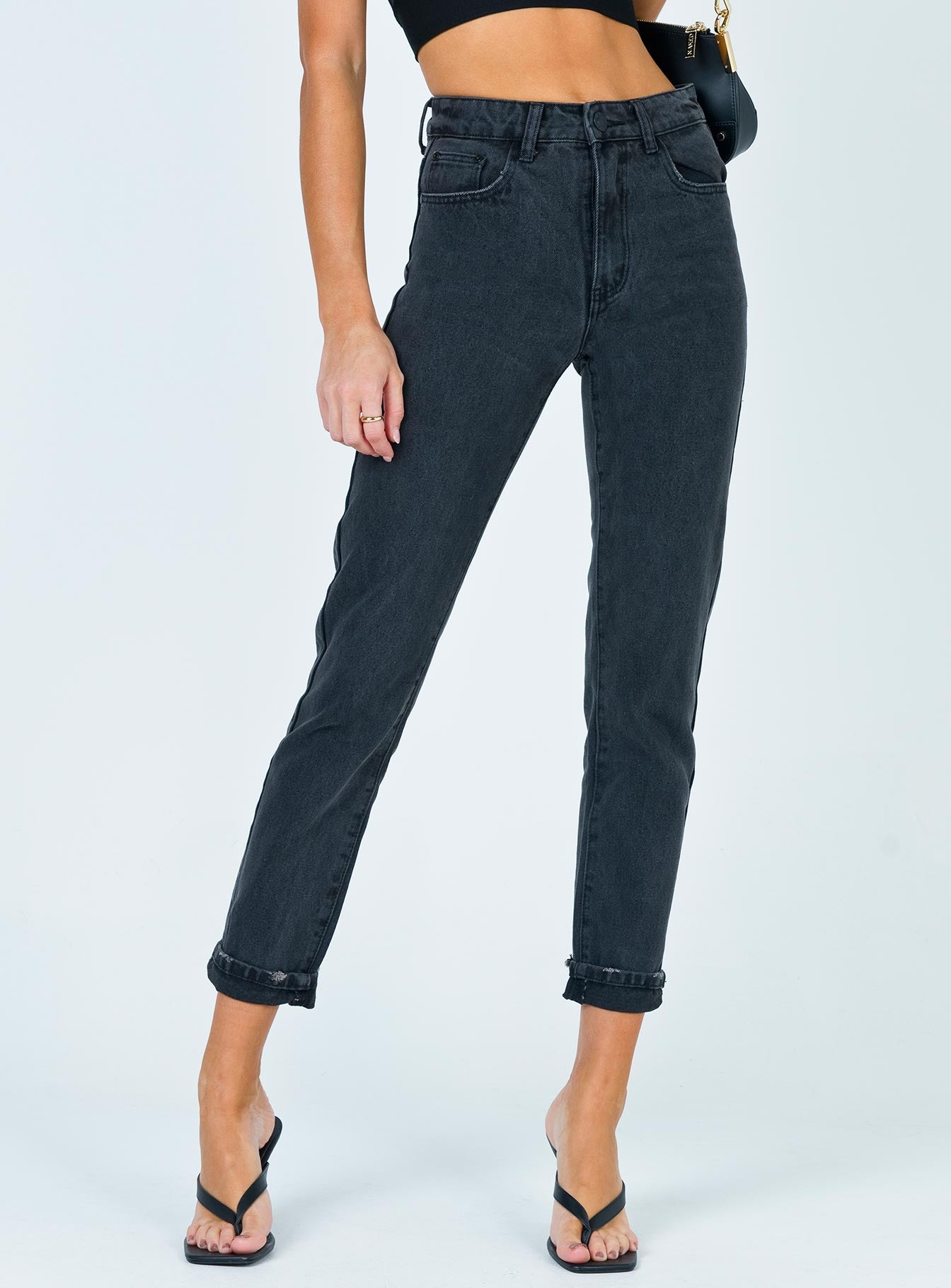 Secondcity Skinny Jeans Black Denim