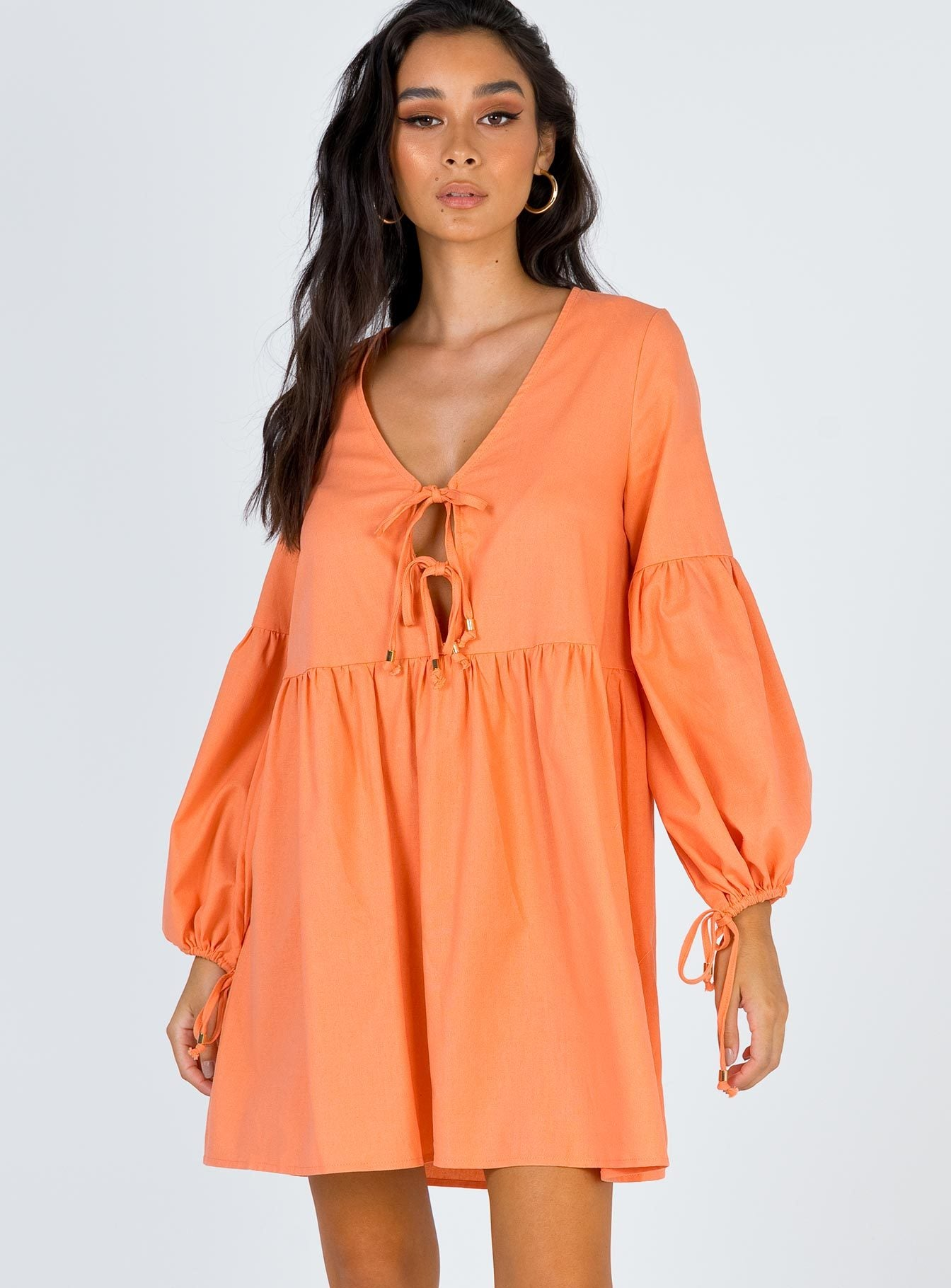 Marigold Mini Dress Orange