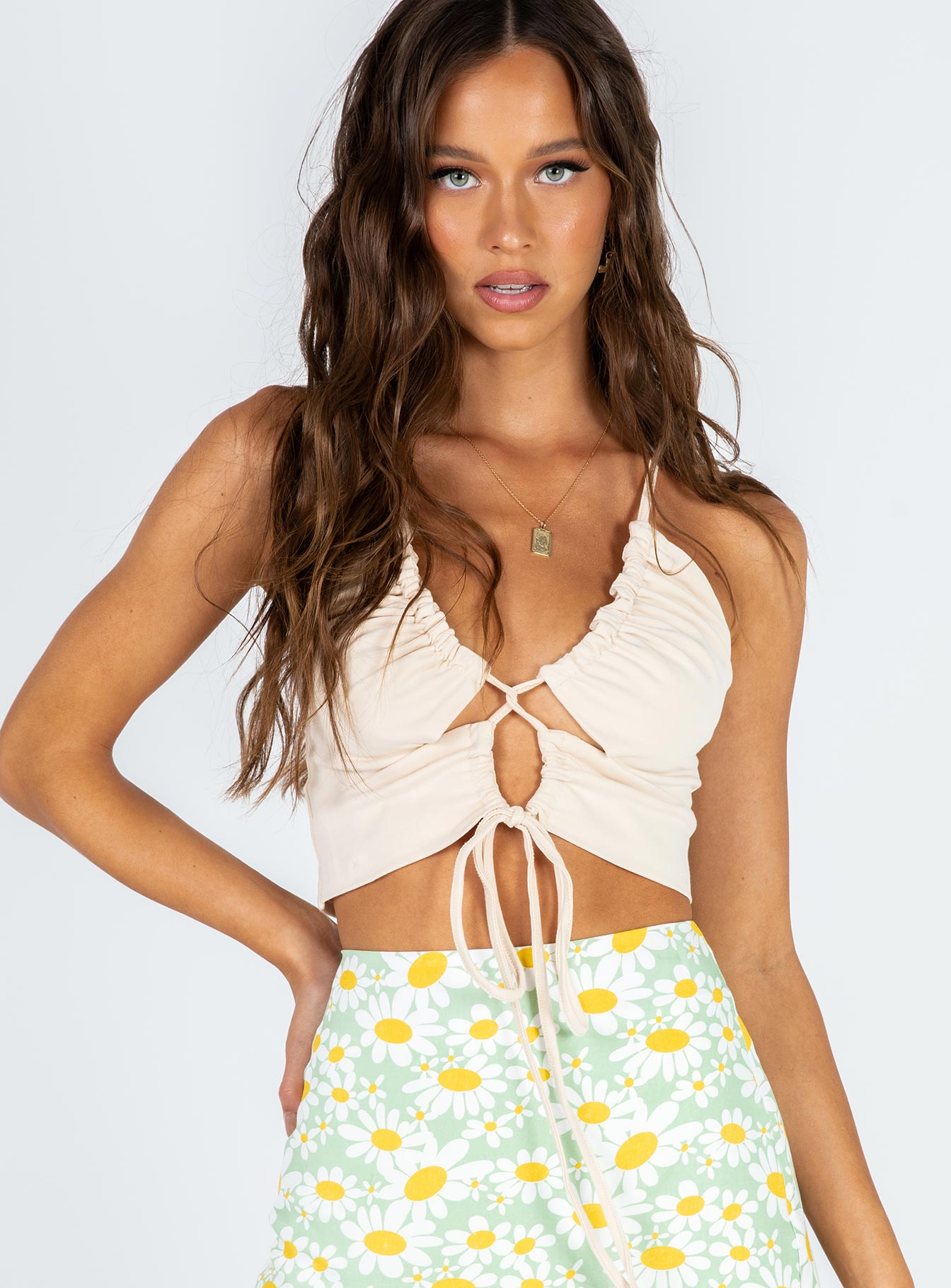 Sin City Crop Top Beige