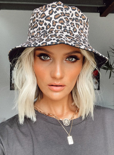 Queen of the Jungle Bucket Hat Leopard