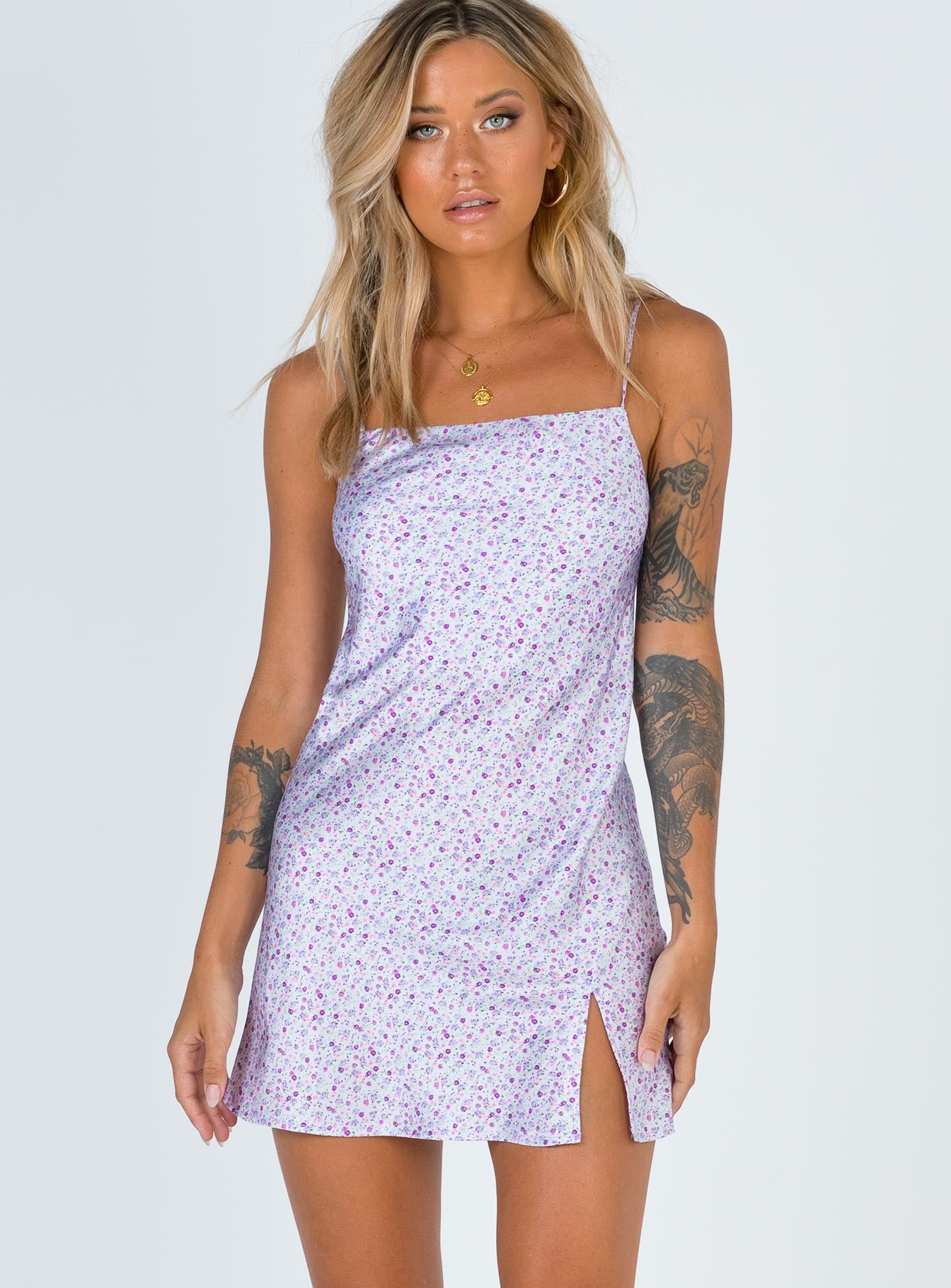 After Thought Mini Dress Purple