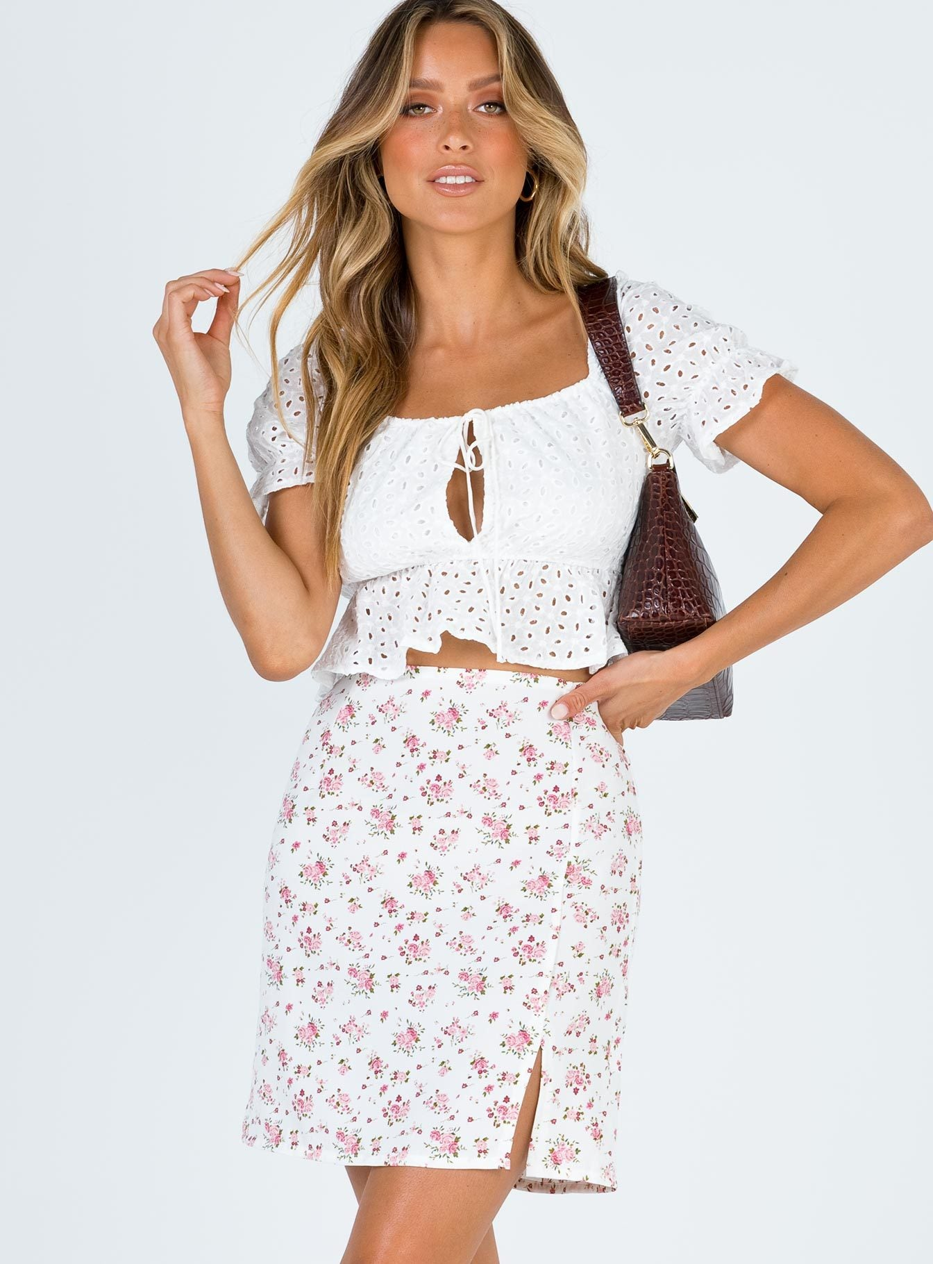 Madden Mini Skirt White Floral