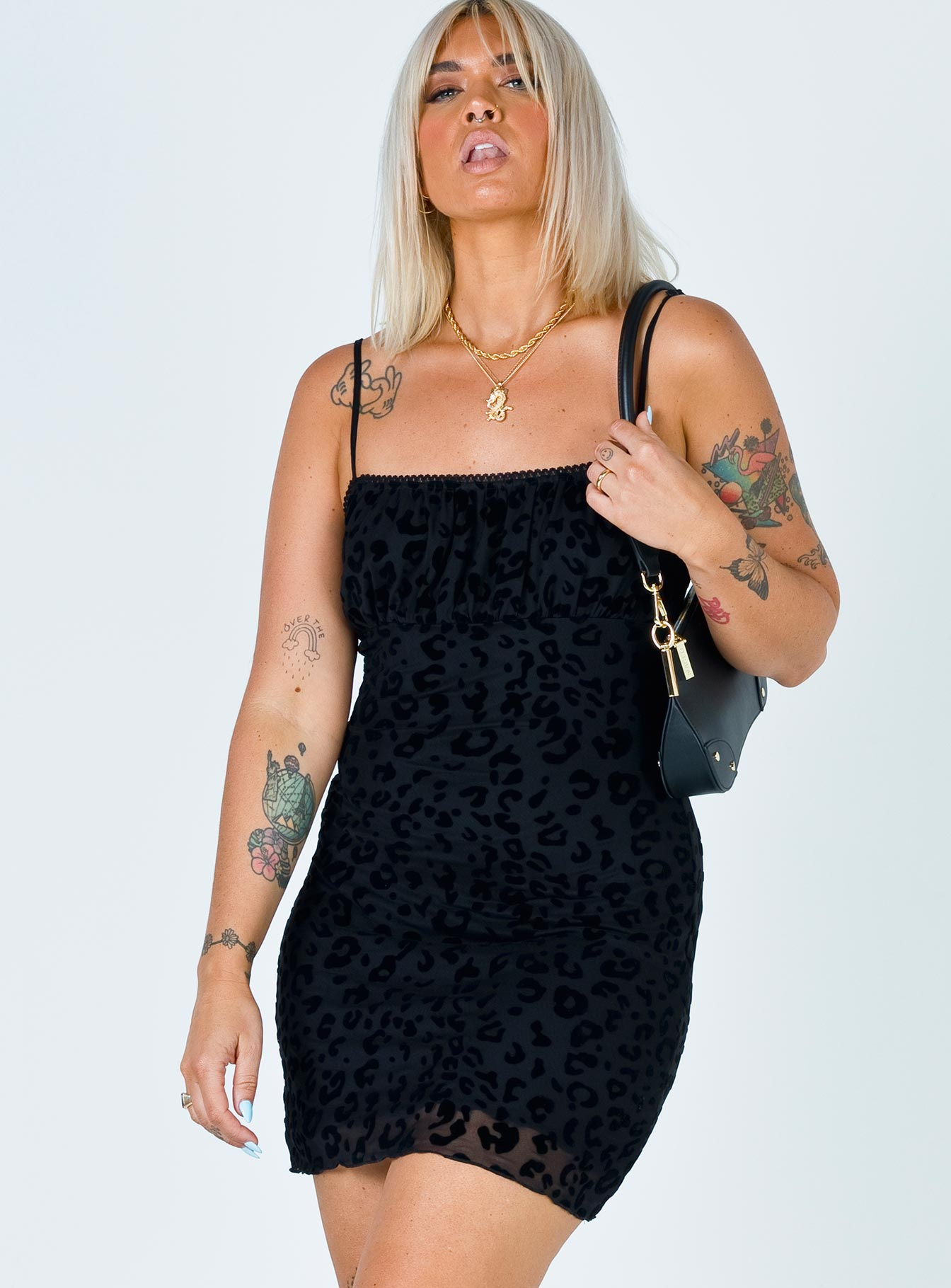 Mattie Mini Dress Black