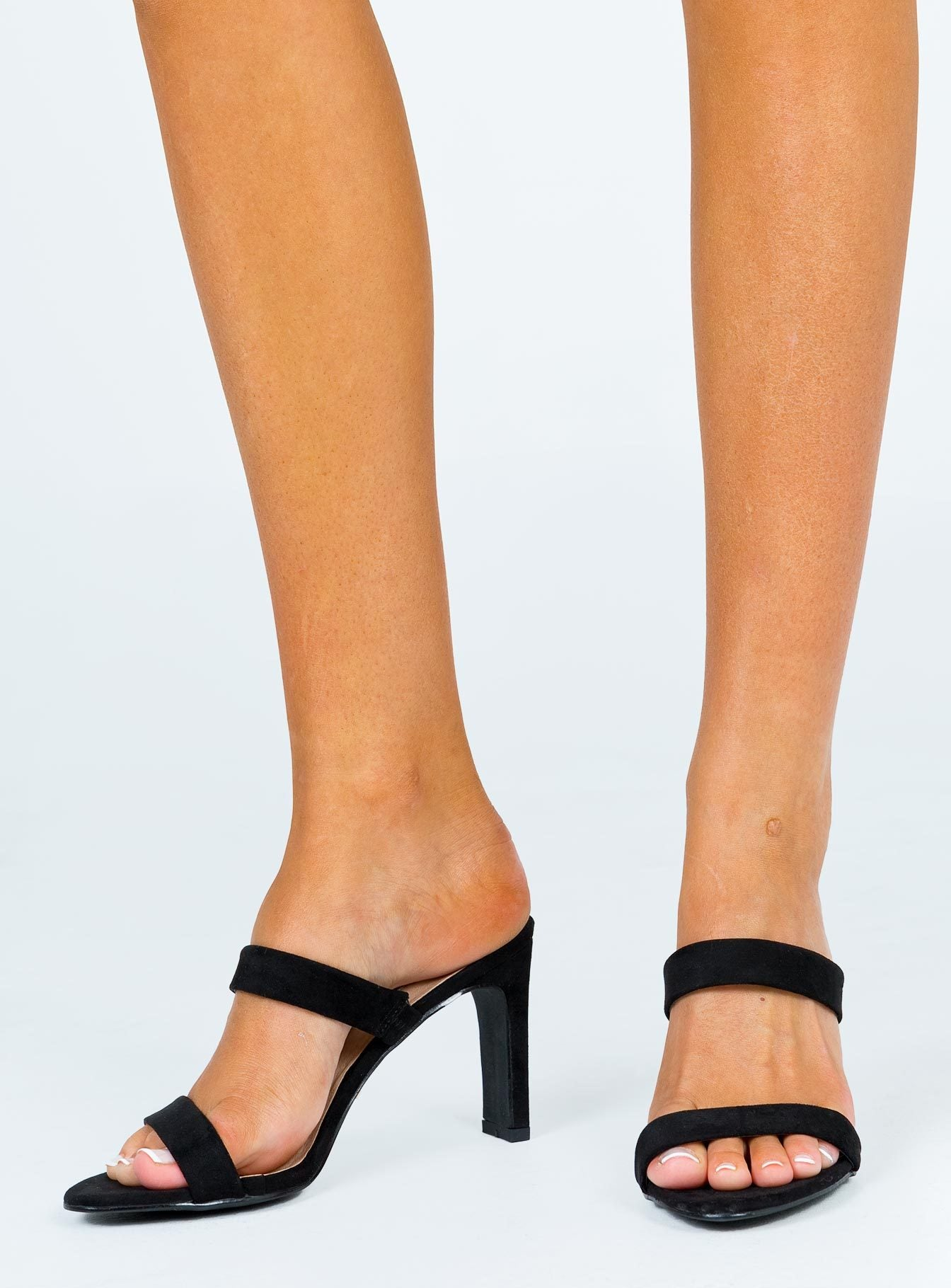 Billini Indy Heel Black Suede