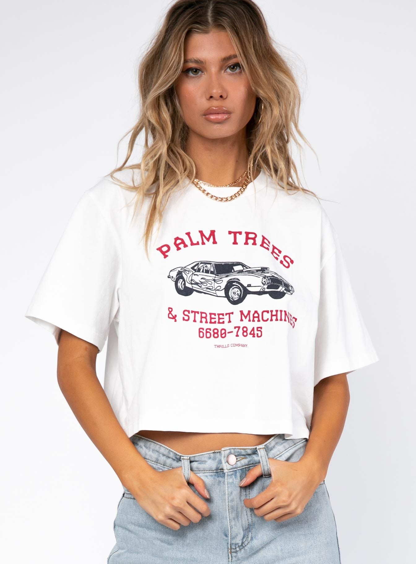 Thrills Charger Merch Crop Tee