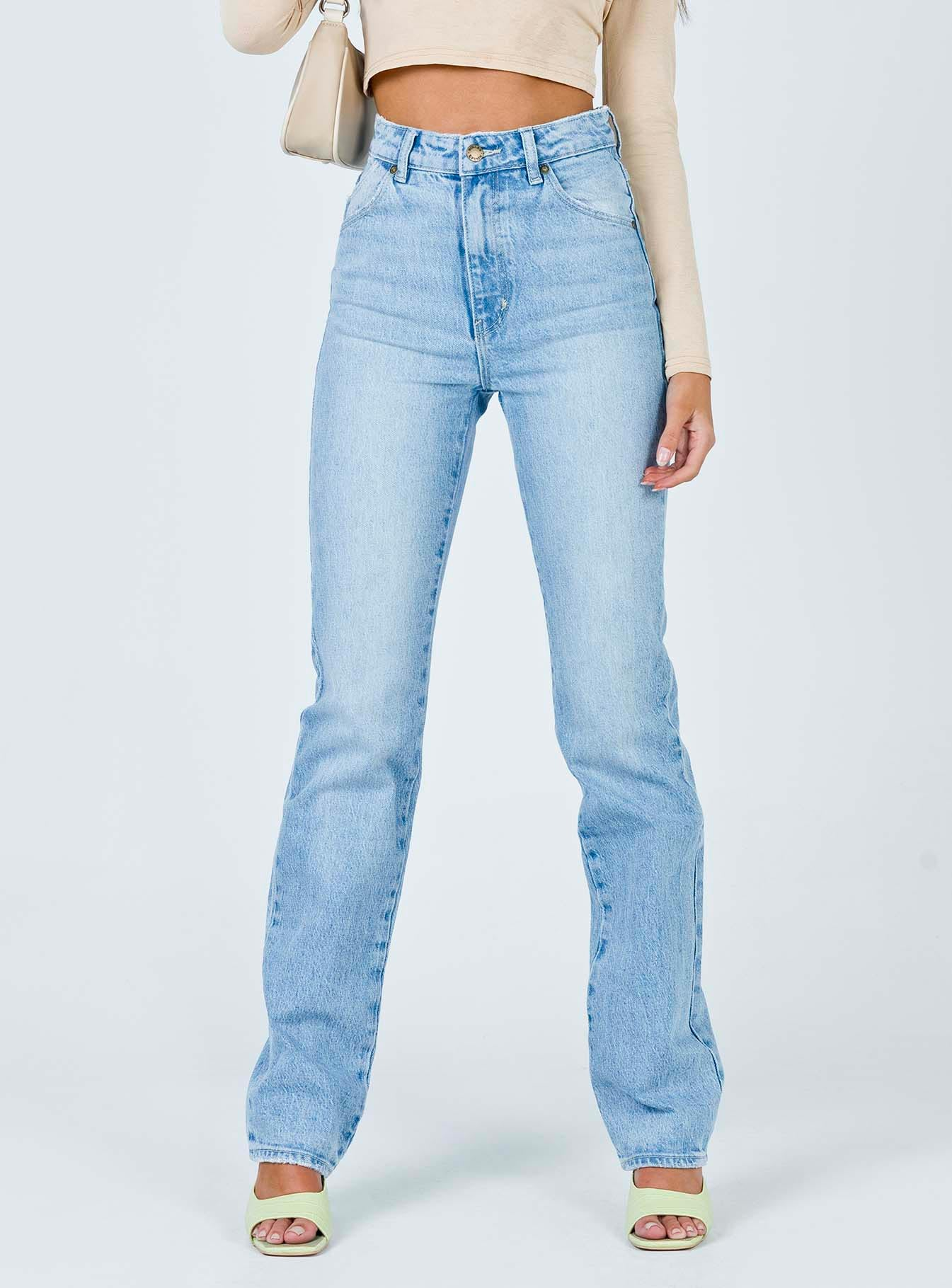 Rolla's Original Straight Long Faded Vintage Jeans