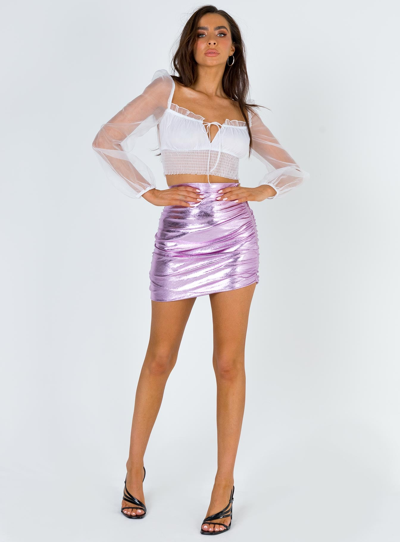 The Glow Up Mini Skirt Pink