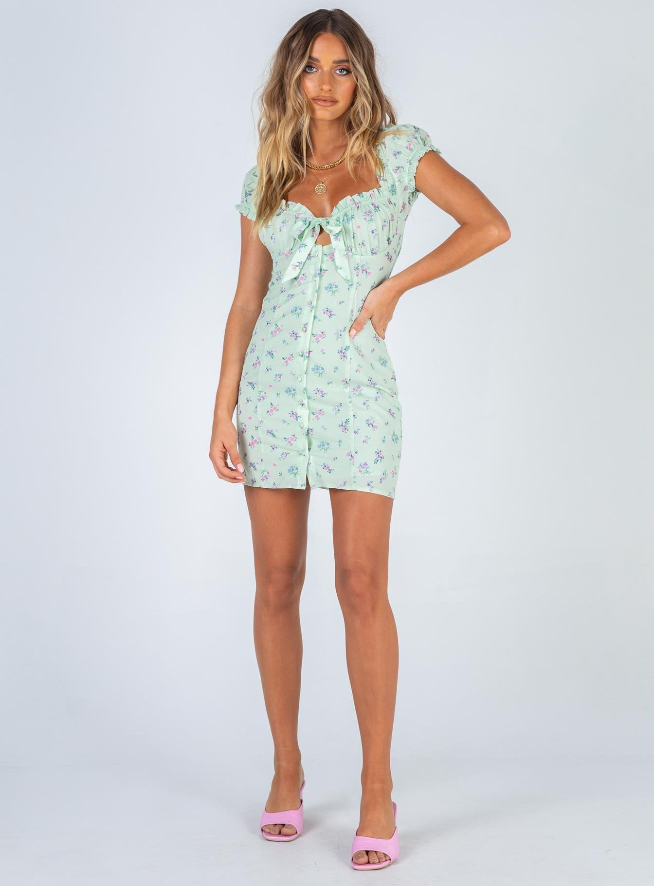 Elodie Mini Dress Green