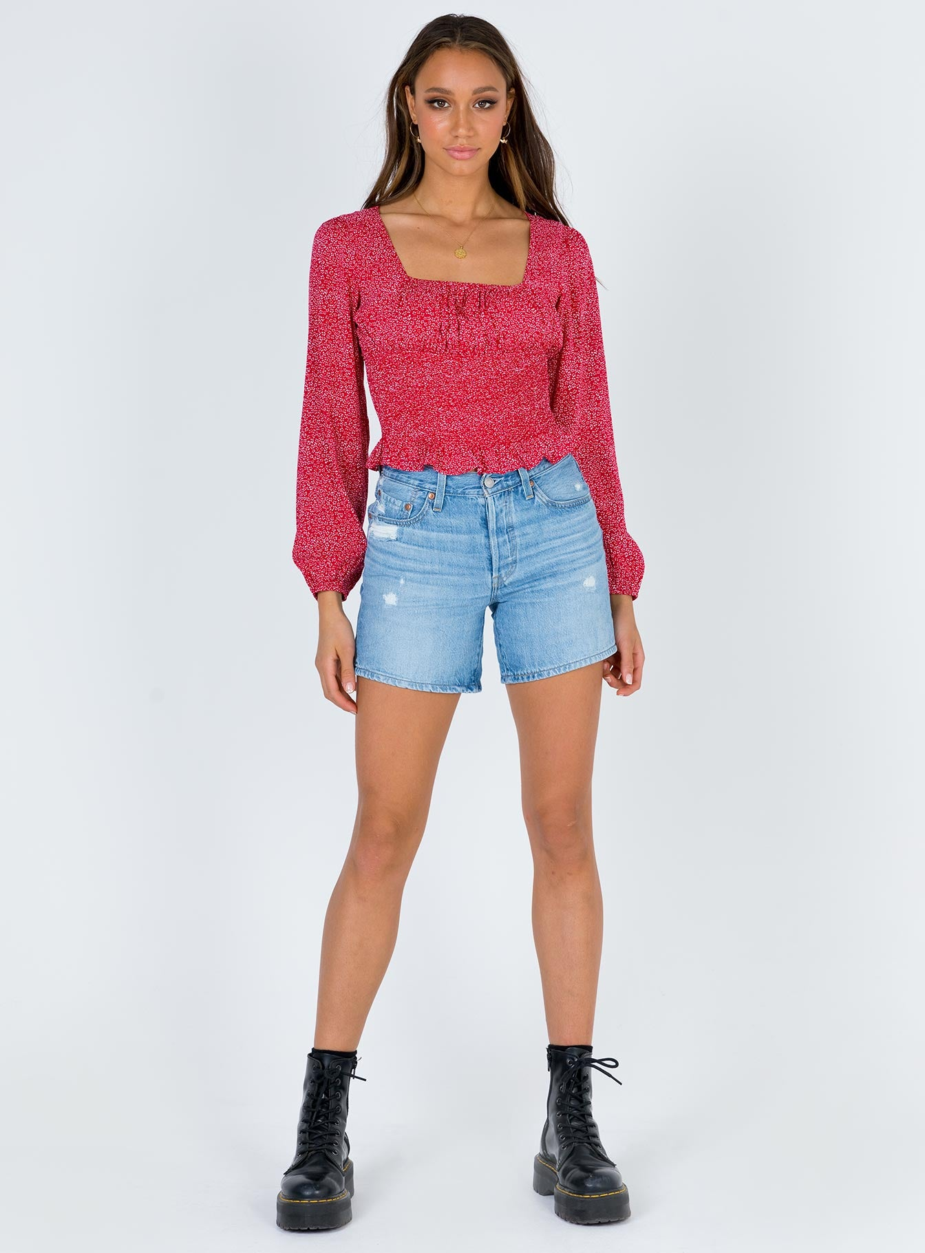 Blakely Top Red