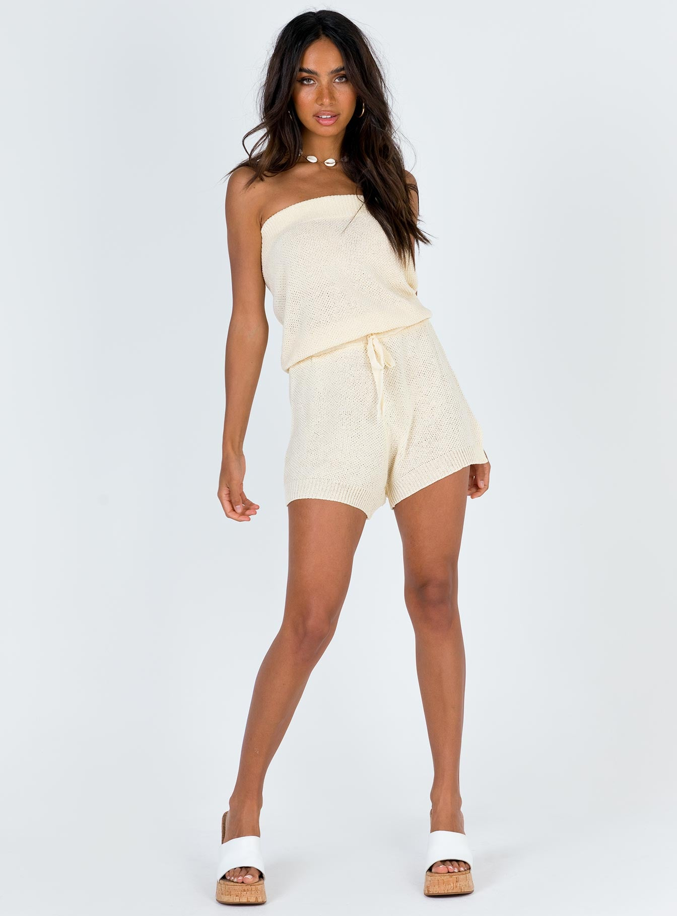Indira Playsuit Beige