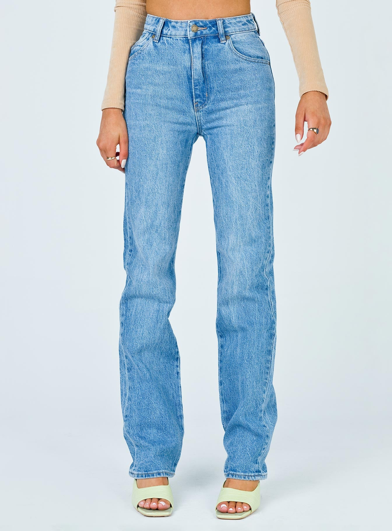 Rolla's Original Straight Long Brad Blue Jeans
