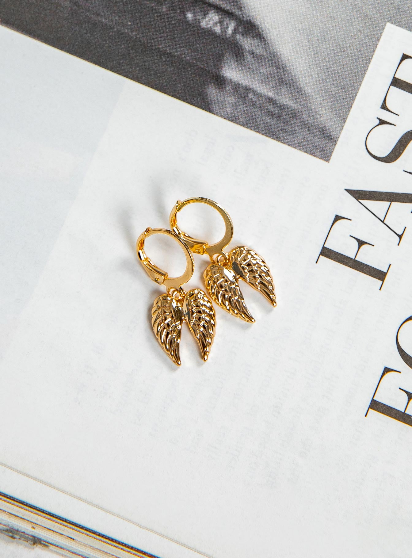 Angel Wings Hoop Earrings
