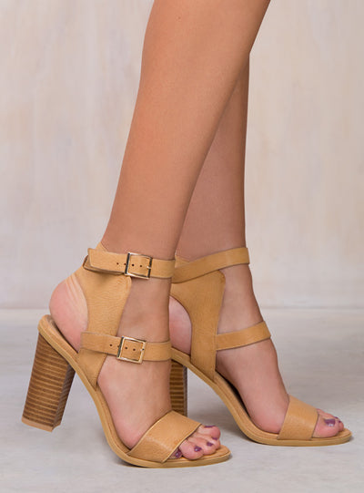 Billini Tan Pebble Zana Heels